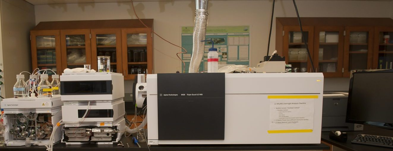 Lab equipment includes an Agilent Technologies 6430 Triple Quad LC/MS