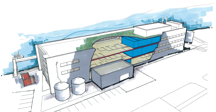 Center for Urban Waters building cutaway: how it works