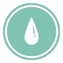 LEED credit symbol: water efficiency