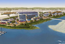 Conceptual rendering of Wheeler Osgood Waterway development